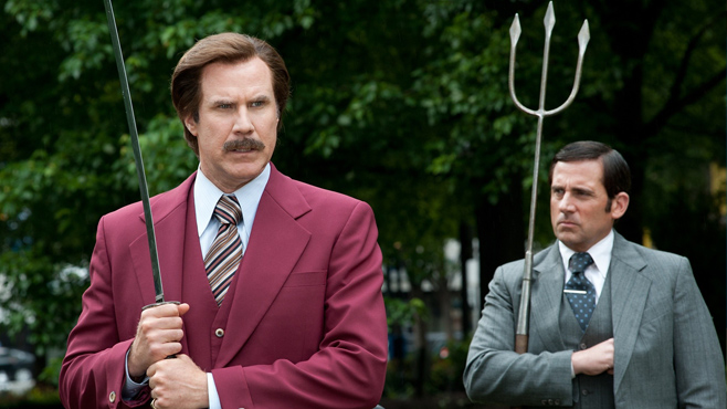 Anchorman 2 The Legend Continues Will Ferrell Steve Carell