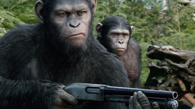 Movie Apes Doing Cool Stuff