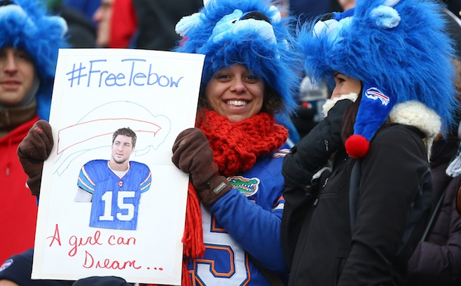 This picture was taken at a Buffalo Bills game.