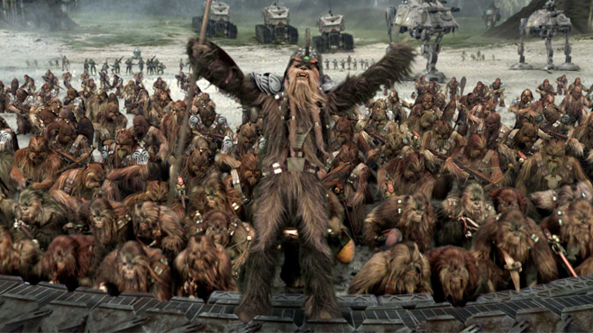 Star Wars Revenge of the Sith Wookiee Army