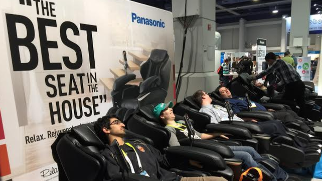 Quiet and relaxation — definitely not something usually see during CES.