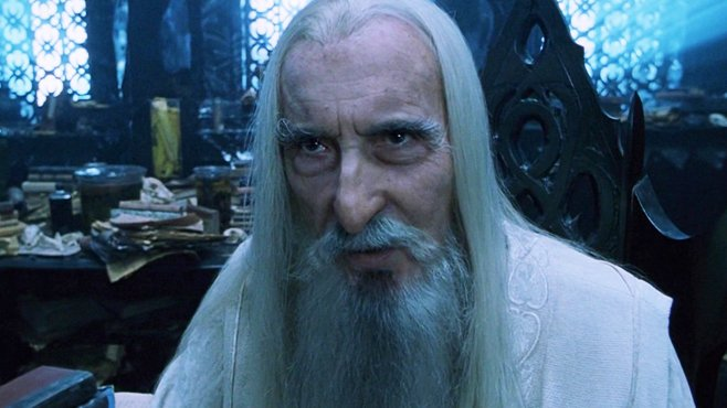 The Lord of the Rings Christopher Lee Saruman