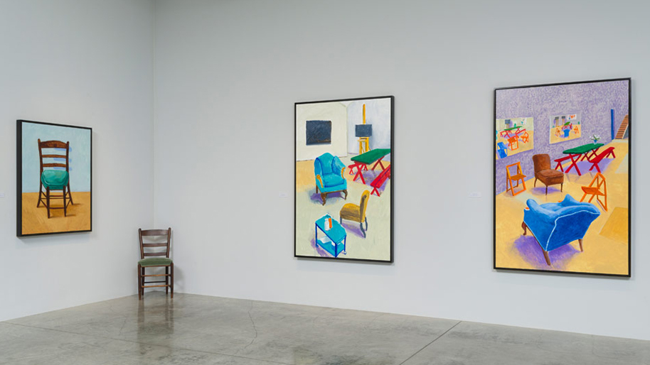 """Installation photograph, """"David Hockney: Painting and Photography""""."""