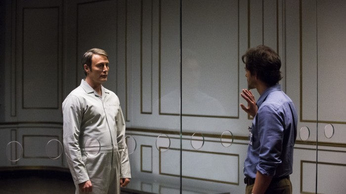 Mads Mikkelson as Hannibal and Hugh Dancy as Will (Photo by: Brooke Palmer/NBC)