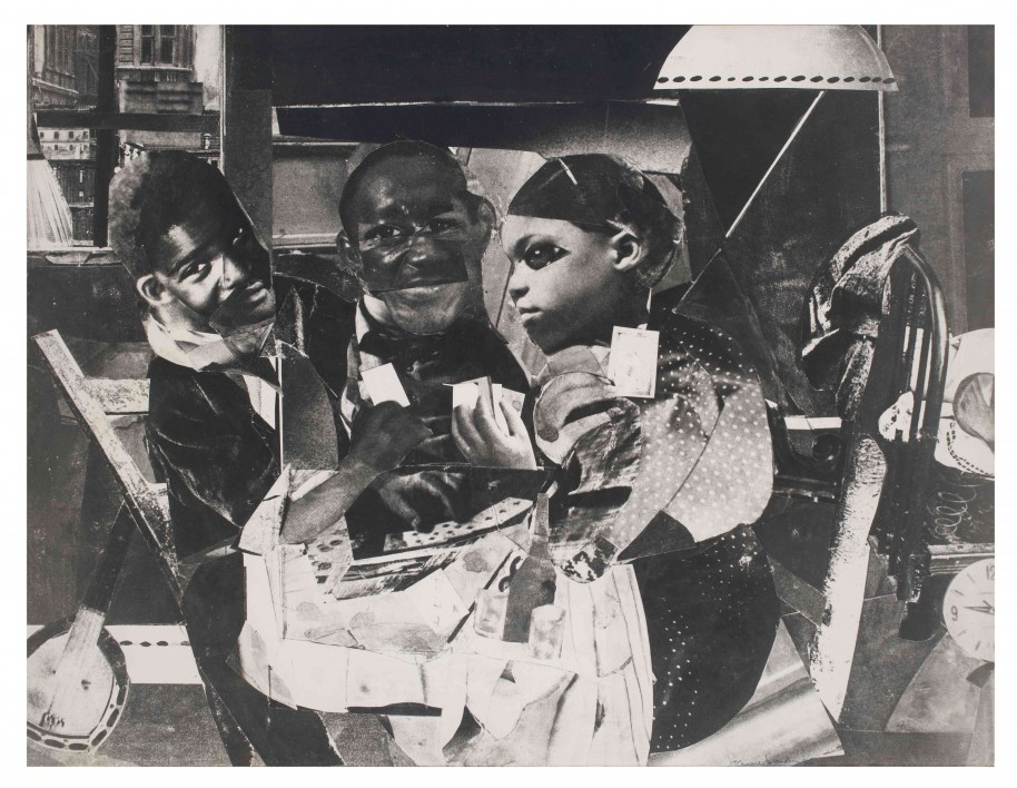 Romare Bearden. Evening 9: 10 461 Lenox Avenue, 1964. Photostat mounted on fiberboard. 50 1/2 x 66 inches. Collection Pérez Art Museum Miami, museum purchase with funds provided by Jorge M. Pérez, the John S. and James L. Knight Foundation, and the PAMM Ambassadors for African American Art.