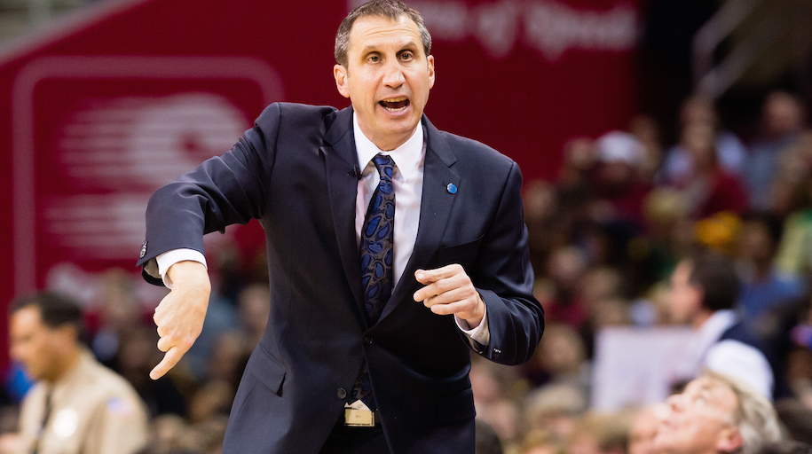 CLEVELAND, OH - JANUARY 21: Head coach David Blatt of the Cleveland Cavaliers yells to his team during the second half against the Los Angeles Clippers at Quicken Loans Arena on January 21, 2016 in Cleveland, Ohio. The Cavaliers defeated the Clippers 113-100. NOTE TO USER: User expressly acknowledges and agrees that, by downloading and/or using this photograph, user is consenting to the terms and conditions of the Getty Images License Agreement. Mandatory copyright notice. (Photo by Jason Miller/Getty Images)