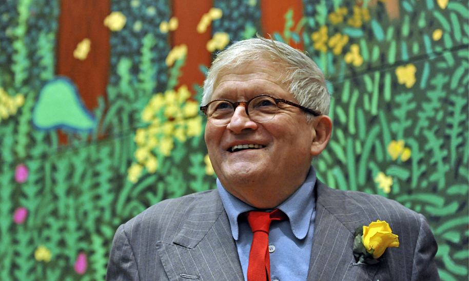 David Hockney at the Royal Academy, 2012. Photo by Stephen Simpson/Rex.