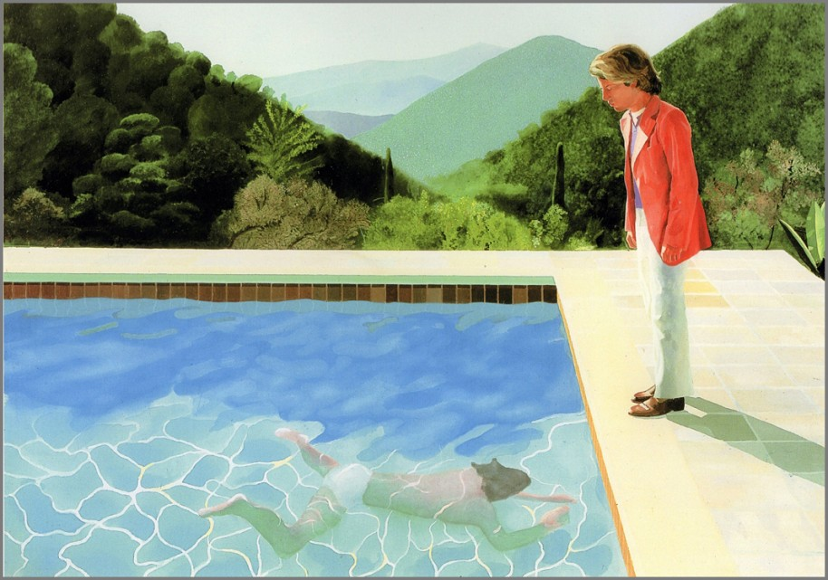 David Hockney. Portrait of an Artist ( Pool with Two Figures) 1972. Courtesy the artist.
