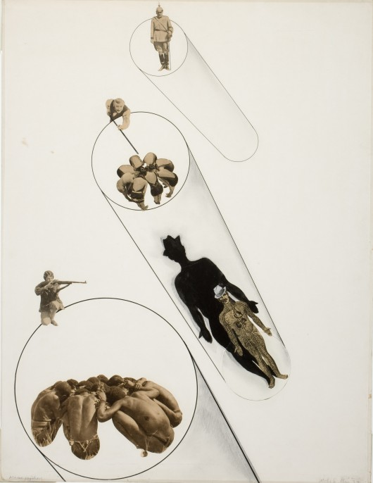 László Moholy-Nagy (American, b. Hungary 1895–1946), Massenpsychose (Mass Psychosis), 1927. Collage, pencil and ink. George Eastman Museum, purchase with funds provided by Eastman Kodak Company. Courtesy of George Eastman House, International Museum of Photography and Film. © 2015 Artists Rights Society (ARS), New York / VG Bild-Kunst, Bonn.