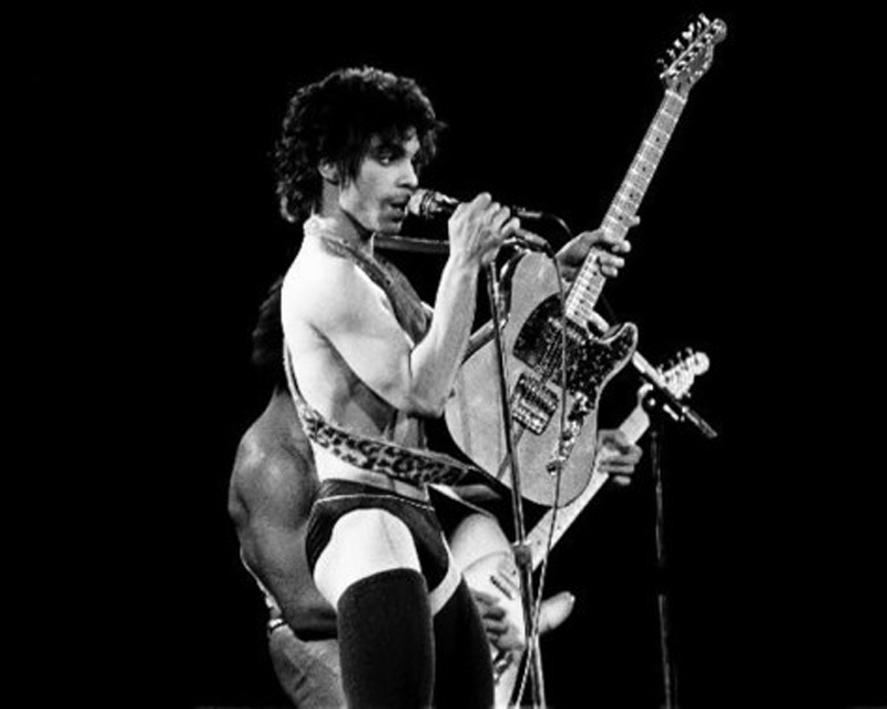 Prince at the Cobo Center, Detroit, 1980. Photo by Leni Sinclair