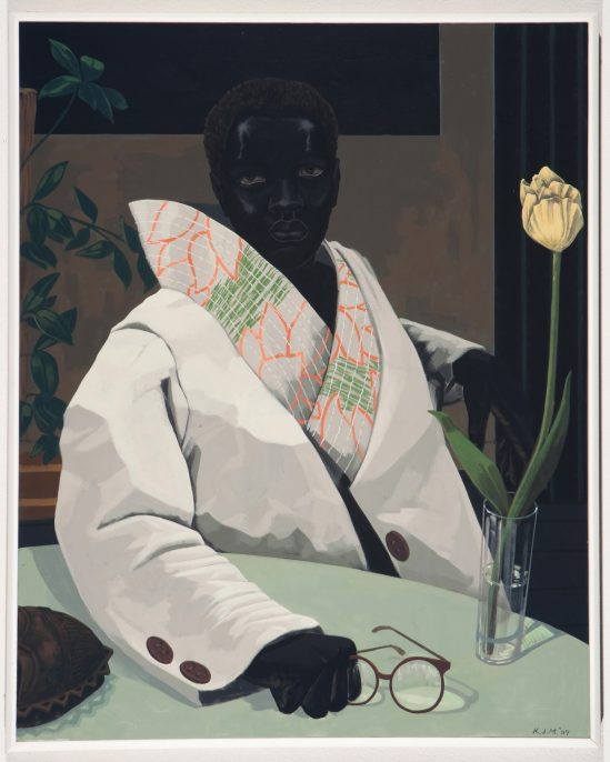 Kerry James Marshall, Portrait of a Curator (In Memory of Beryl Wright), 2009, acrylic on PVC, 30 7/8 x 24 7/8 x 1 7/8 in., Penny Pritzker and Bryan Traubert Collection, © Kerry James Marshall, courtesy of the artist and Jack Shainman Gallery, New York