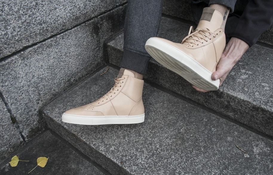 The Polyforma look book ranges from high tops to simple trainers.