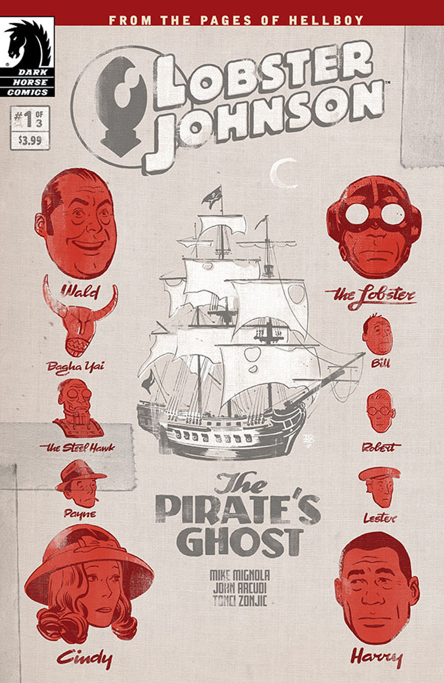 Lobster Johnson The Pirates Ghost 1 cover