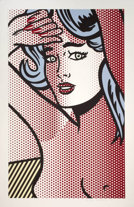 Roy Lichtenstein, Nude with Blue Hair, State I, from the Nudes Series, 1994. Private collection, Los Angeles. © Estate of Roy Lichtenstein