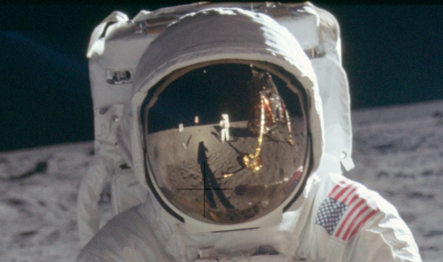 Apollo 11 mission to the moon. Courtesy of the Public Domain Review