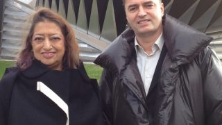 Patrik Schumacher with the late Zaha Hadid. Photo courtesy of Getty Images.