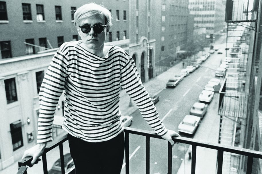 Stephen Shore: Andy Warhol on fire escape of the Factory, 231 East 47th Street, 1965-