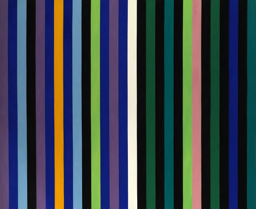 Gene Davis, Two Part Blue, about 1964, magna, Smithsonian American Art Museum, Bequest of Florence Coulson Davis
