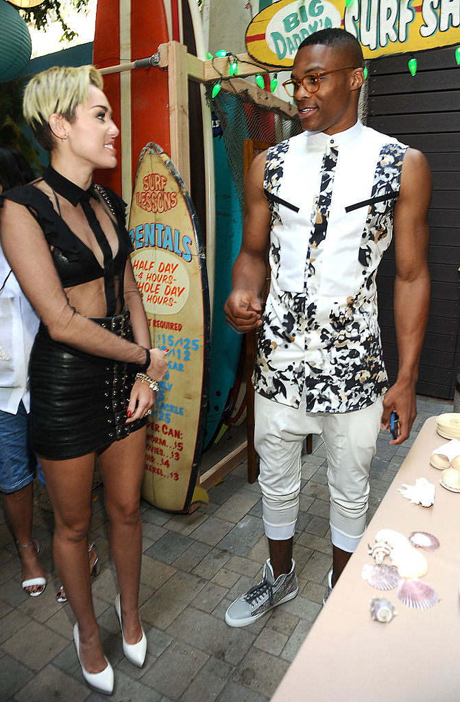 Russell Westbrook Fashion Miley Cyrus