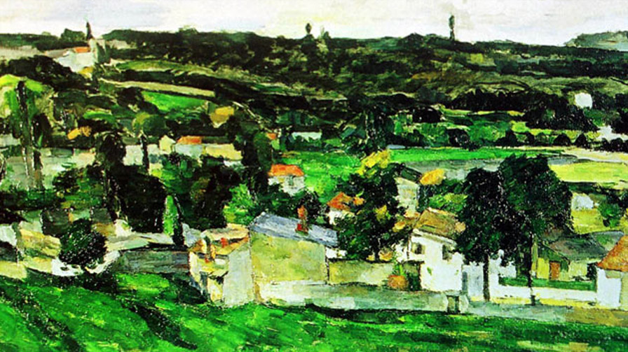 Cezanne, View of Auvers-sur-Oise