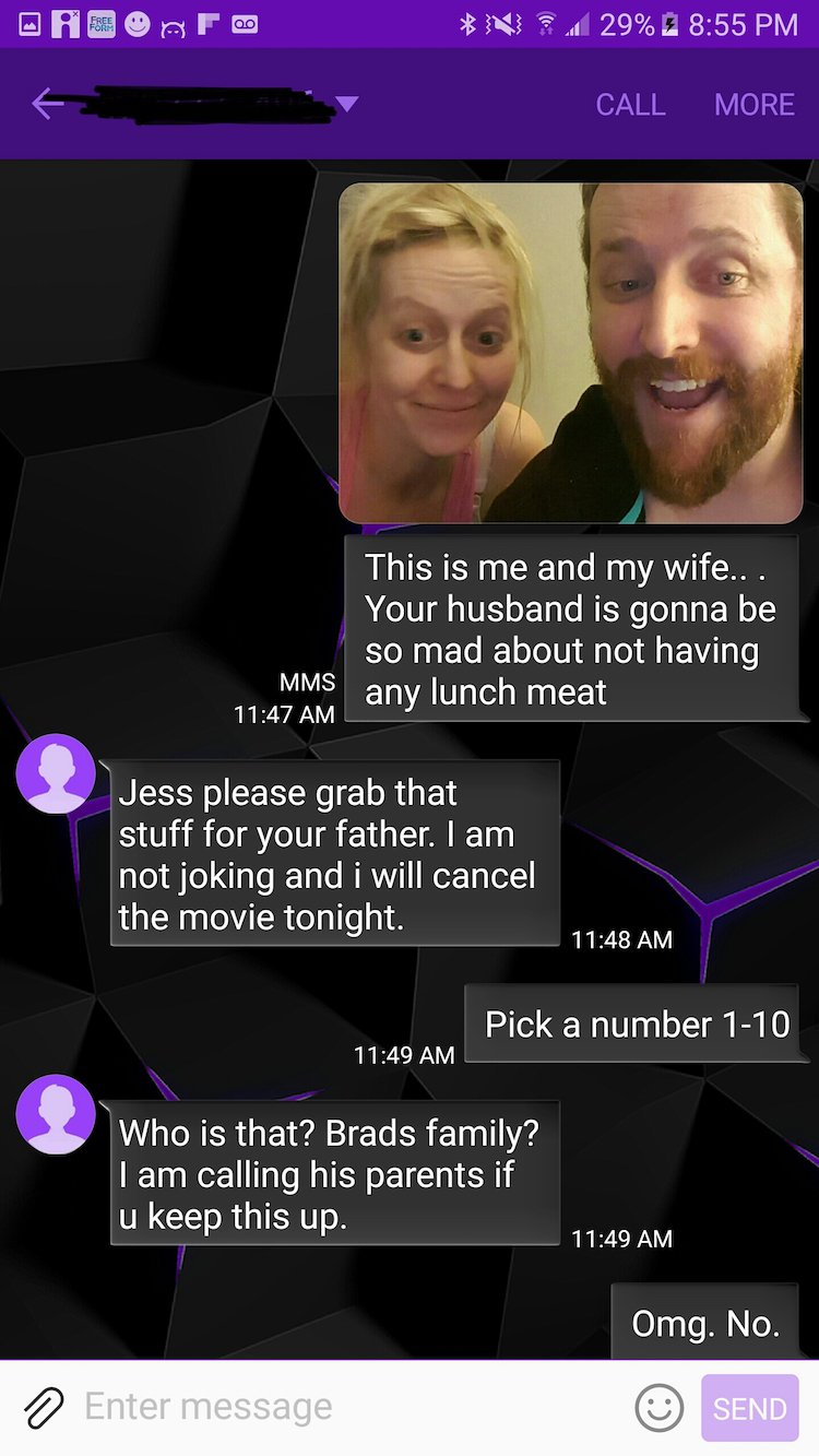wrong number text5