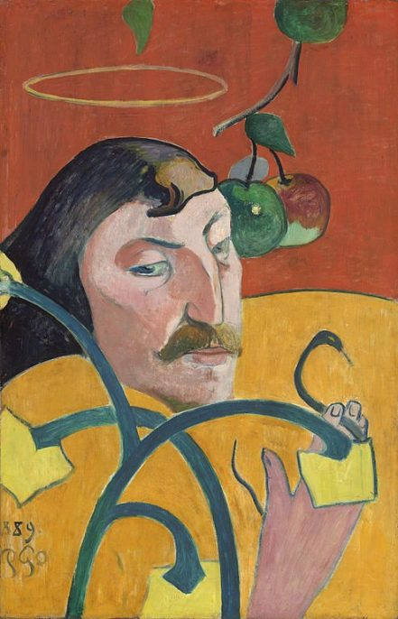 Paul Gauguin. Self-Portrait with Halo. Oil on panel, 1889. Courtesy of Wikimedia Commons.