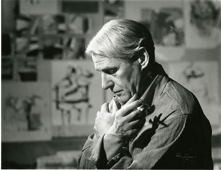 Willem de Kooning in His Studio, Smithsonian Institution Archives. Courtesy of Wikimedia Commons.