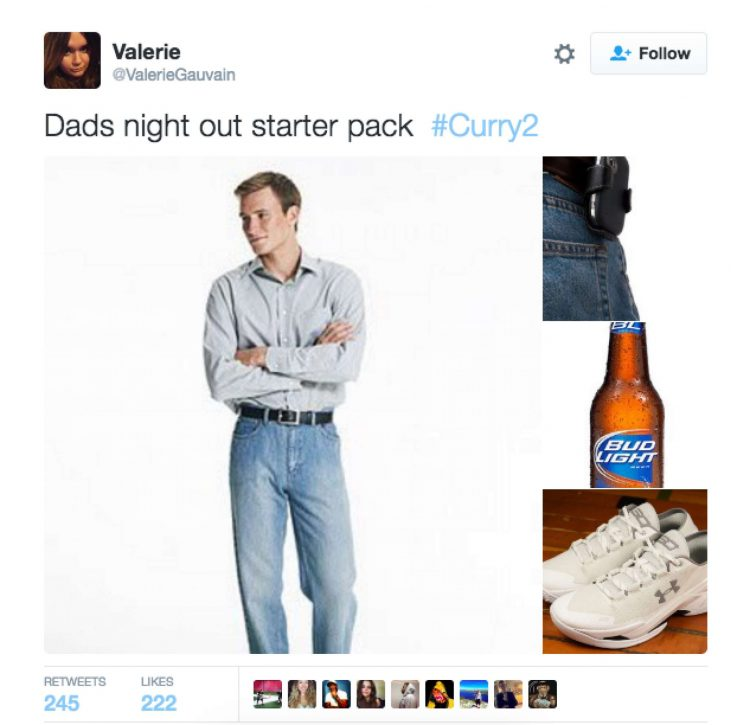 Steph Curry dad sneakers internet meme