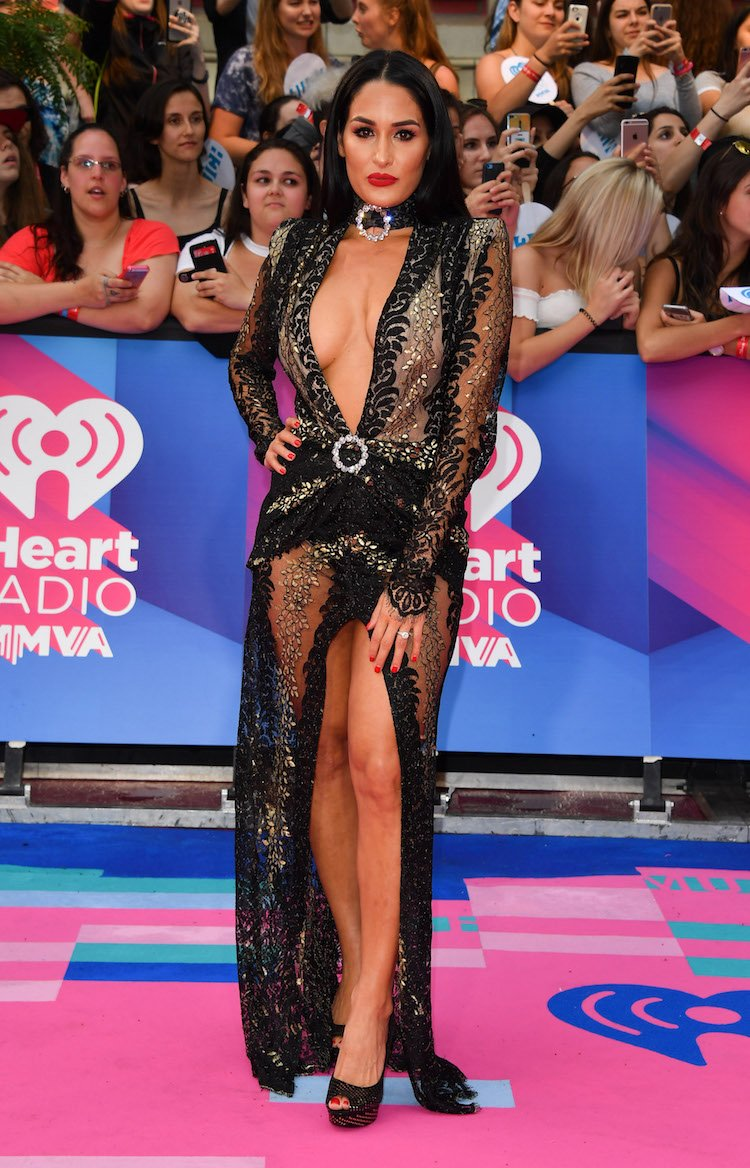 TORONTO, ON - JUNE 18: Nikki Bella arrives at the 2017 iHeartRADIO MuchMusic Video Awards at MuchMusic HQ on June 18, 2017 in Toronto, Canada. (Photo by George Pimentel/Getty Images,)