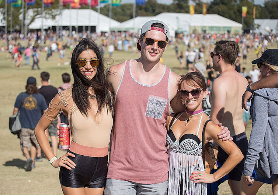 AUSTIN, TX - OCTOBER 07: Festival goers attend Austin City Limits Music Festival at Zilker Park on October 7, 2016 in Austin, Texas. (Photo by Rick Kern/WireImage)