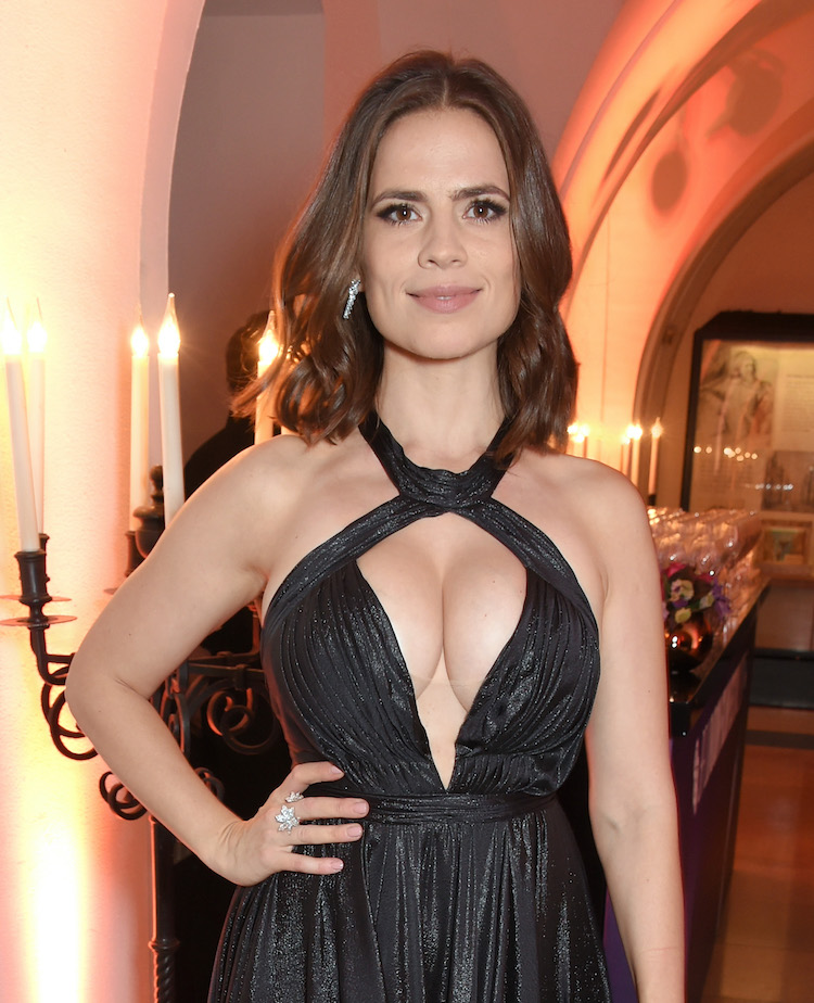 Hayley Atwell And Her Huge Cleavage Stole The Show
