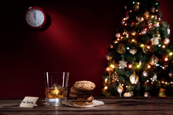 whiskey Christmas cookies