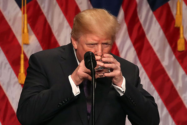 The Donald Trump Guide to Drinking Water Like a Completely Respectable President