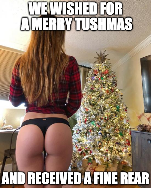 We wished for a Merry Tushmas...