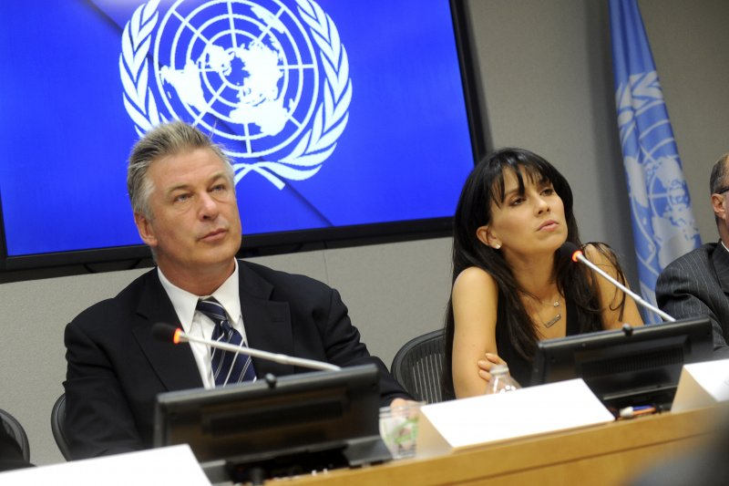 Actor and activist Alec Baldwin and wife Hilaria Thomas, addresses a press briefing to announce the winners of the 2015 Equator Prize, which will be awarded to 20 outstanding local and indigenous community initiatives that are advancing innovative solutions for people, nature and resilient communities at the United Nations Headquarters in New York City on September 21, 2015Featuring: Alec Baldwin, Hilaria BaldwinWhere: New York, New York, United StatesWhen: 21 Sep 2015Credit: Dennis Van Tine/Future Image/WENN.com**Not available for publication in Germany, Poland, Russia, Hungary, Slovenia, Czech Republic, Serbia, Croatia, Slovakia**