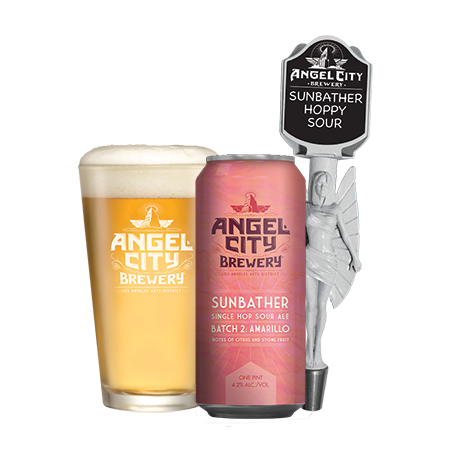 Angel City Sunbather and Tangy Pork Chops