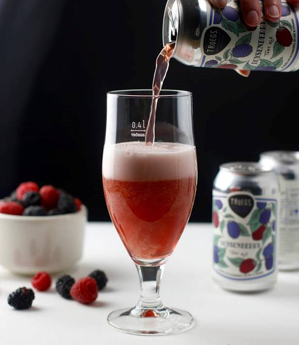Troegs Boysenberry Tart Ale and Grilled Salmon