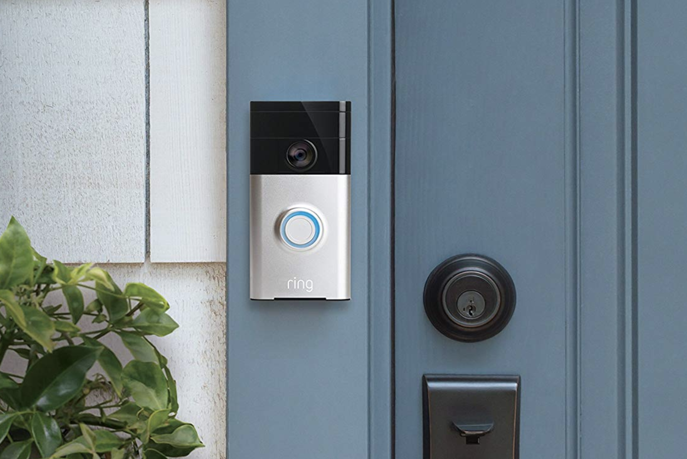 Ring Wi-Fi Enabled Video Doorbell in Satin Nickel - $69.99 (Down From $99.99)