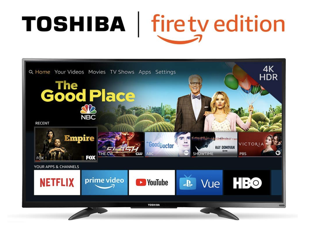 Toshiba Fire TV Edition 50-inch 4K Ultra HD Smart LED TV HDR - $279.99 (Down From $379.99)