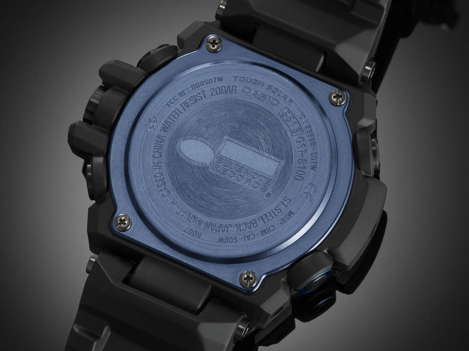 Case Back of G-Shock X Blue Note Records