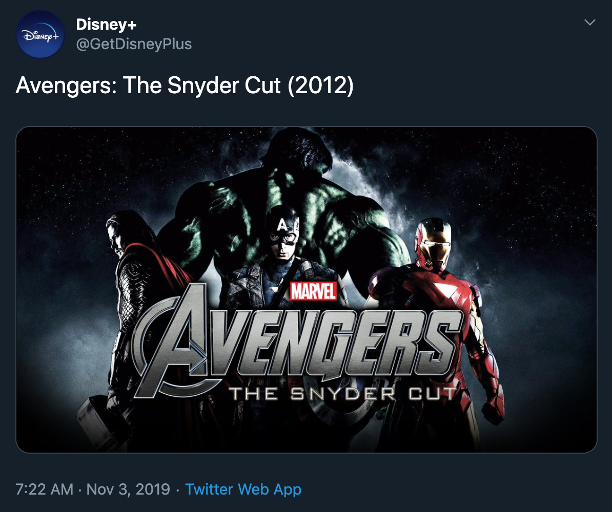 'Avengers: The Snyder Cut'