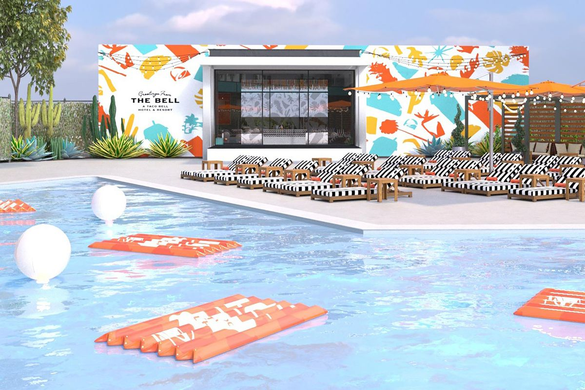4. The Taco Bell Hotel Opens For Business