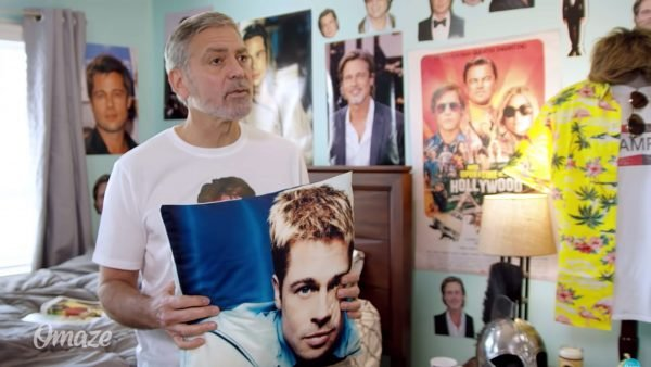 George Clooney Hilariously Fan Boys Over Brad Pitt For Charity Video