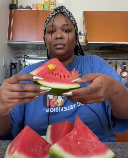 Mandatory TikTok Trends: People Are Slathering an Unusual Condiment on Watermelon (And Lizzo Is Not Down With It)