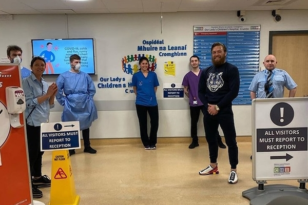 Mandatory Good News: Conor McGregor Hand Delivers Supplies to Dublin Children's Hospital, Manages Not to Punch Any Kids