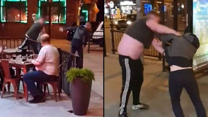 Defeated Man Chooses Dead Pigeon as Street-Fighting Weapon Outside McDonald's (and We're Lovin' It)