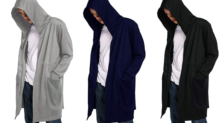 Coofandy Men's Hooded Cardigan Sweatshirt