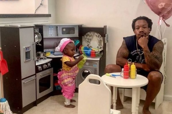 Loving Dad Plays Food Critic to Baby Daughter's Play Kitchen, Supports Local Black Business