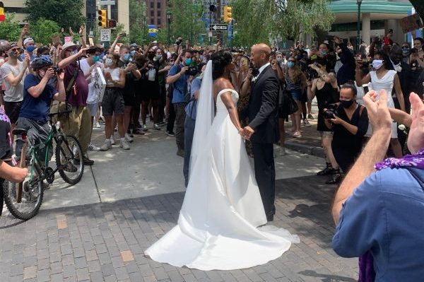 Mandatory Good News: Philadelphia Couple Walks Down the Aisle and Into Black Lives Matter Protest