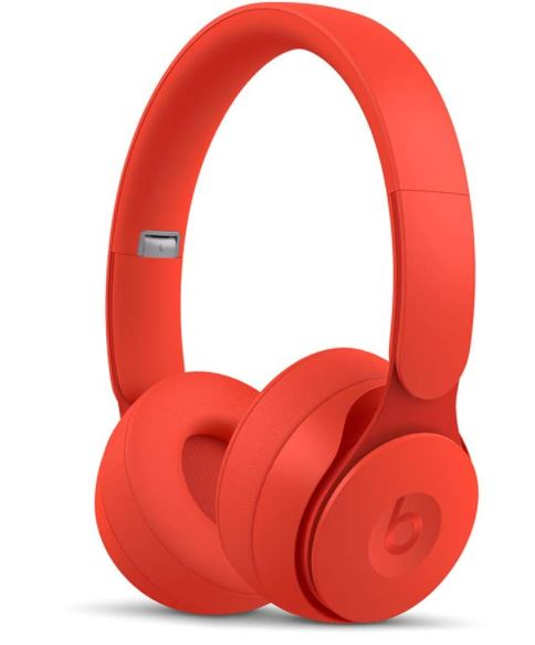 Beats Solo Pro Wireless Noise Cancelling On-Ear Headphones - Apple H1 Headphone Chip, Class 1 Bluetooth, Active Noise Cancelling, Transparency, 22 Hours Of Listening Time – Red
